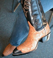 Custom Hand Carved Boots
