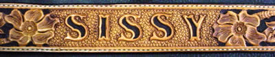 Carved Name Belt With Dyed Lettering (extra)
