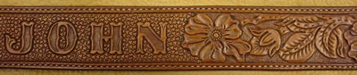 Carved Name Belt