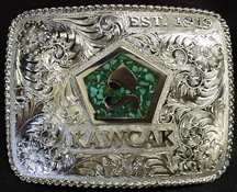 Turquoise Inlaid Brand Buckle