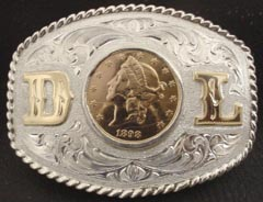 Gold Coin and Initial Buckle