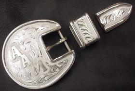 "Half Round Wire 1"" with Initial Buckle Set"
