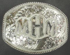 Monogrammed Buckle with Twisted Wire Rope