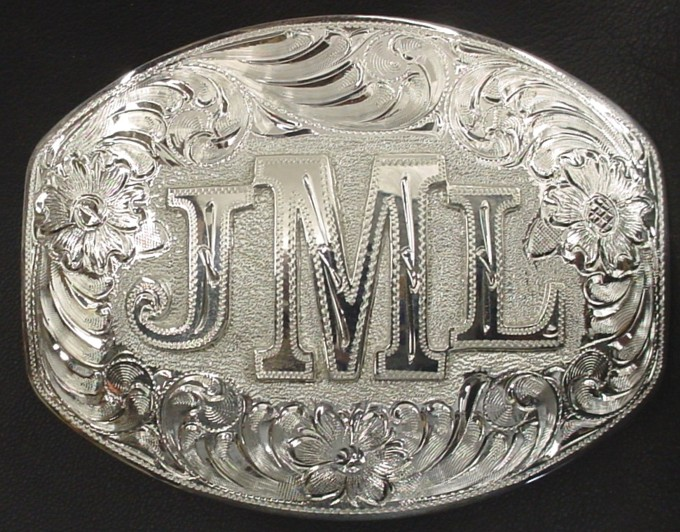 Plain Edge Monogrammed Buckle