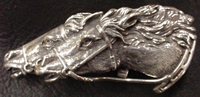 Custom Horse Heads Buckle